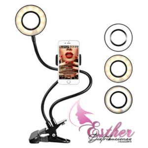 Lámpara de Mesa con Soporte para Teléfono