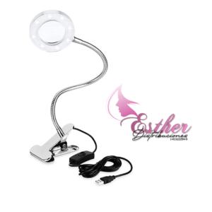 Lámpara de Mesa luz LED con lupa