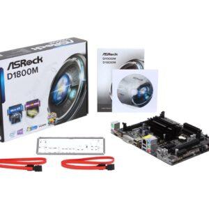 TARJETA MADRE ASROCK D1800M MATX DUAL CORE CELERON J1800 2.41GHZ/DDR3 1333/PCIe X16/DX11/HDMI-DVI