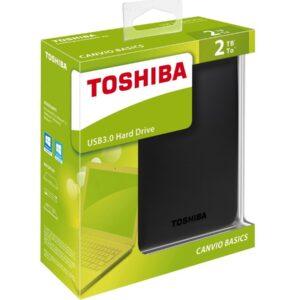 DISCO DURO EXTERNO TOSHIBA CANVIO 2TB 2.5¨USB 3.0 NEGRO